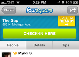 foursquare-gap-checkin