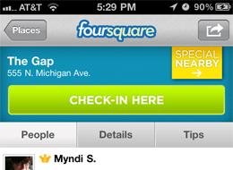 foursquare-gap-checkin